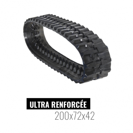 Oruga de goma Accort Ultra 200x72x42