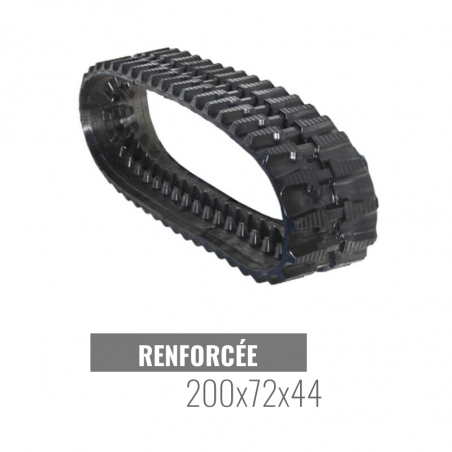 Rubberen rups Accort Track 200x72x44