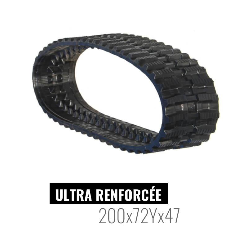Cingolo in gomma Accort Ultra 200x72Yx47