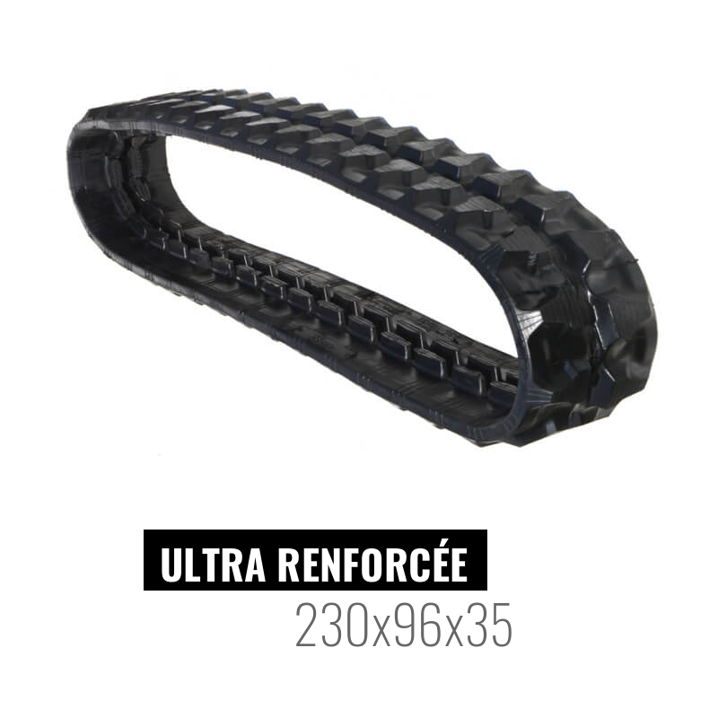 Chenille caoutchouc Accort Ultra 230x96x35