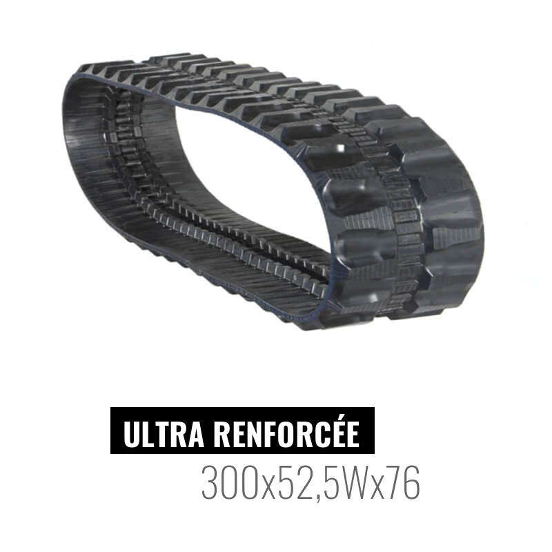 Rubber track Accort Ultra 300x52,5Wx76