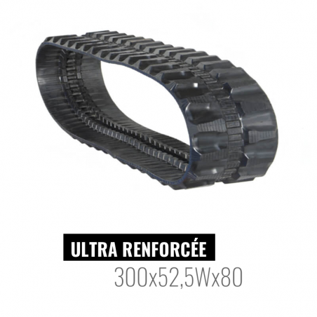 Chenille caoutchouc Accort Ultra 300x52,5Wx80