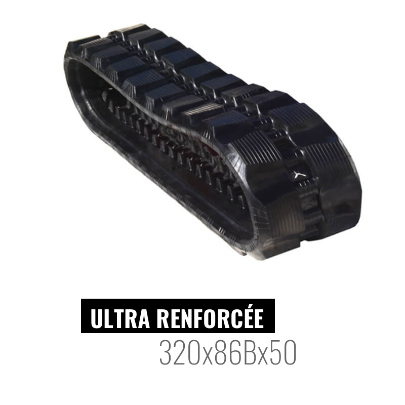 Chenille caoutchouc Accort Ultra 320x86Bx50