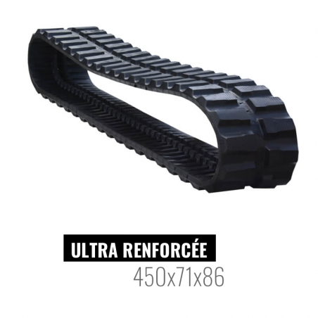 Rubberen rups Accort Ultra 450x71x86