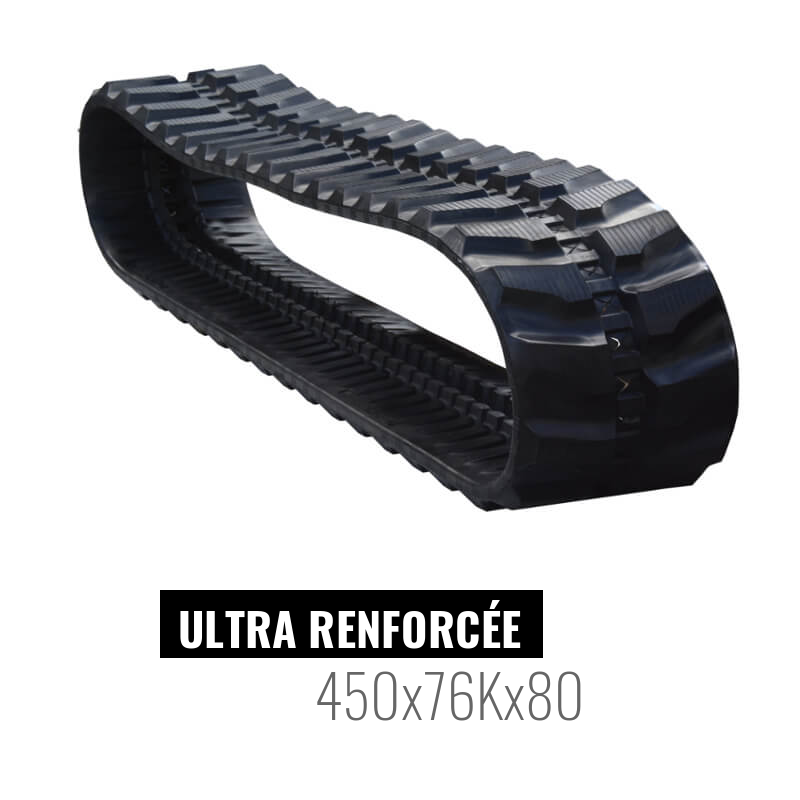 Oruga de goma Accort Ultra 450x76Kx80