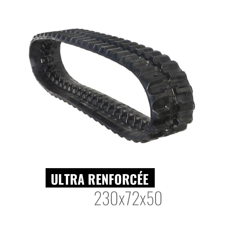 Cingolo in gomma Accort Ultra 230x72x50