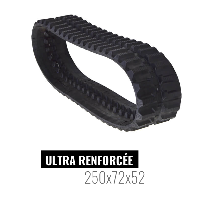 Cingolo in gomma Accort Ultra 250x72x52