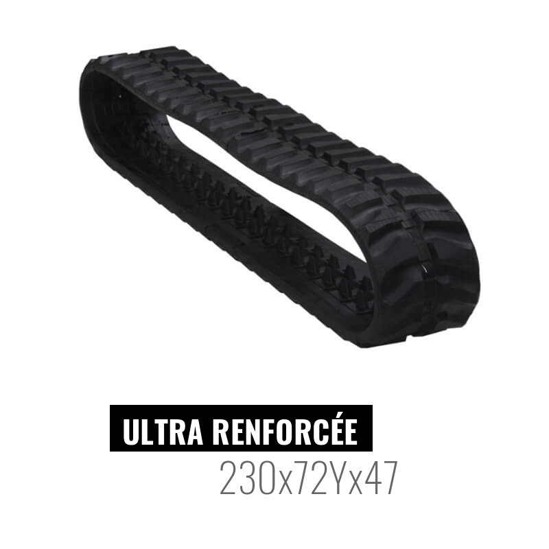 Oruga de goma Accort Ultra 230x72Yx47
