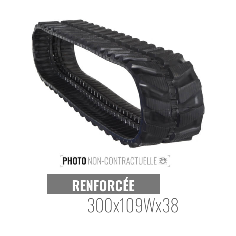 Cingolo in gomma Accort Track 300x109Wx38
