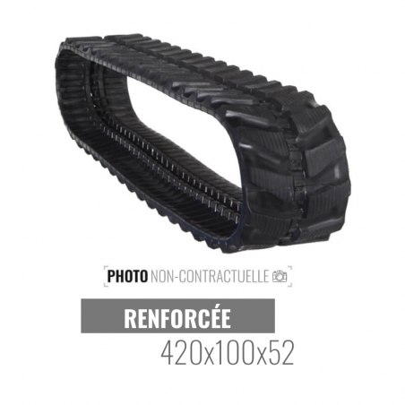 Cingolo in gomma Accort Track 420x100x52